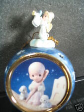 Bradford Ornament 1999 Precious Moments He Leadeth Me Angel Shepherd Lambs