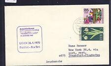 53552) LH FF Frankfurt-New York 26.4.70, carta a partir de DDR