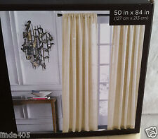 "NATE BERKUS LOCKSTITCH WINTER WHITE ONE WINDOW CURTAIN PANEL 50"" X 84""  NEW"