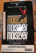 "Moiseyev original Window card Pantages Theatre 14x22"" vintage Moscow dance troop"