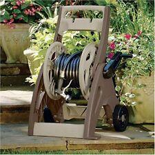 Garden Hose Reel Cart w/ Leader Hose 175-Feet Resin Wheeled Outdoor Hosemobile