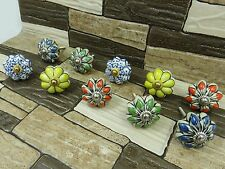 Decorative Ceramic Drawer Knobs Unique Cabinet Cupboard Pulls Kitchen 5 Pair