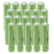 20x Exell 1.2V 800mAh NiMH AAA Size Rechargeable Flat Top Batteries USA SHIP