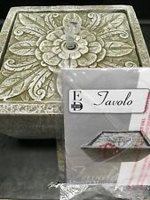 EDOn Air Tavolo Floral Square Tabletop Fountain by Ellen DeGeneres Battery- NEW