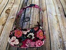Vera Bradley Maggie Brown Pink Floral Pattern Quilted Purse