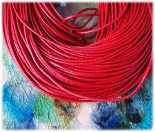 Rote Drähte, lederbänder zur Schmuckherstellung 2 mm