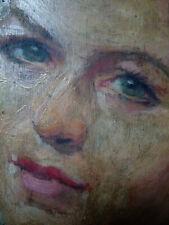 """Huile sur bois """"Portrait de femme"""" signée Mahudez (1876-1956) Bénézit"""