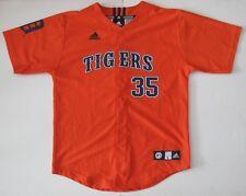 L Youth adidas Justin Verlander Detroit Tigers MLB Baseball Jersey Orange EUC