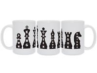 Chess piece names chess player coffee mug gift, Board game ceramic tea cup