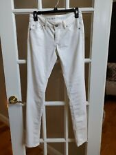 Almost Famous Stretch Skinny White Jeans Sz 5 New