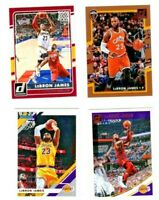 MIXED DONRUSS Lakers /Cavs Lebron James 4 card lot  The KING