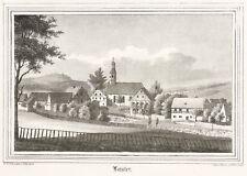 LAUTER (LAUTER-BERNSBACH) - TEILANSICHT MIT KIRCHE - Lithografie 1842