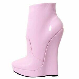 Ladies Platform Ankle Boots High Heels Sexy Zip Nightclub Dance Slim Shoes