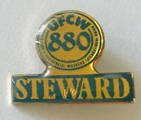 UFCW United Food & Commercial Workers Union Steward Pin Badge Rare Vintage (A10)