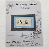 Springberry Kreek Cross Stitch Pattern The Ultimate Debate Cat Toilet Paper Book