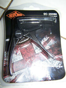 Rotosound Acoustic Electric Capo Black Metal GC-200BK Trigger Clip Clamp On