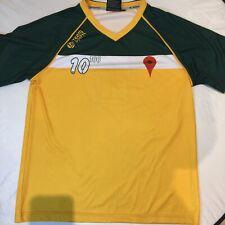 Team Spirit Australia Green And Gold Google Football Jersey Large 10 100