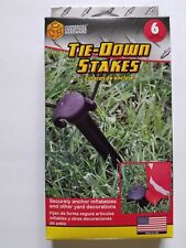 6-pack Adams Gemmy Plastic Tie-Down Stakes for Anchoring Airblown Inflatables