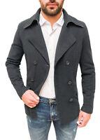 Cappotto uomo Diamond invernale grigio casual elegante giacca blazer slim fit