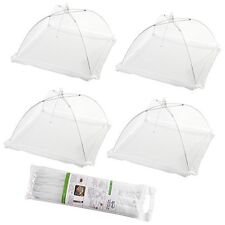 (Set of 4) Large Pop-Up Mesh Screen Food Cover Tents - Keep Out Flies, Bugs, Mos