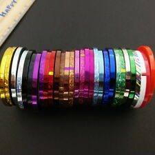 30PCS Colorful 3MM Metallic Striping Tape Line Stickers Nail Art Decals DIY Deco