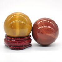 30MM Natural Gemstone Mookaite Jasper Crystal Healing Reiki Stone Shpere Ball