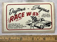 Vintage Daytona New Smyrna Race Way Track Speedway Decal Sticker Car Florida
