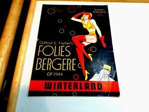 Folies Bergere of 1944 Program