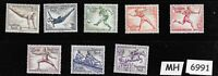 #6991   Complete MH / 8 pc set 1936 Germany Sc B82-B89 German Summer Olympics