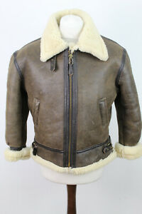 BRANDED By ORCHARD MOTORCYCLE B-3 Flight Shearling Aviator Bomber Jacket Size 14