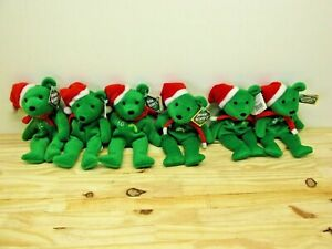 "Bamm Beano's ALEX RODRIGUEZ ETC Green Christmas Bear 8"" beanbag plush #3,24 23"