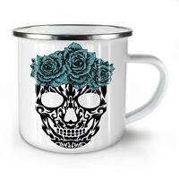 Day of Dead Sugar NEW Enamel Tea Mug 10 oz | Wellcoda