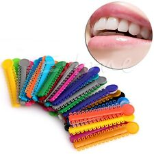 1040Pcs Dental Ligature ties Orthodontics Elastic Rubber Bands Multi Color 1Pack