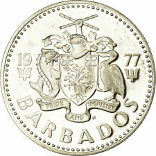 [#850949] Coin, Barbados, 5 Dollars, 1977, Franklin Mint, Proof, MS, Silver