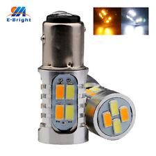 2Pcs 12V White/Amber 1157 BAY15D 5730 20 SMD Led Car Reverse Turn Stop Tail Lamp