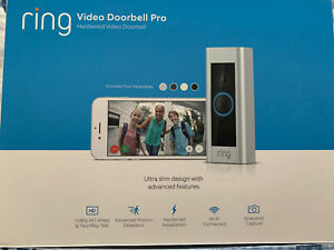 Ring Video Doorbell Pro Wired Wi-Fi Compatibility. Brand New Unopened 2nd Gen.