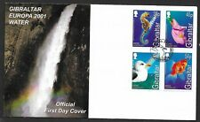 Gibraltar 2001 FDC Europa , Water fine used stamps