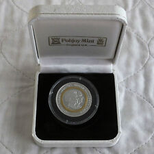 Isole Vergini britanniche 2007 Bi-Metal 5 DOLLARI ORO e ARGENTO PROOF-Boxed