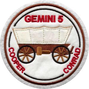 NASA Gemini 5 (V) - Gordon Cooper / Pete Conrad Embroidered Mission Patch