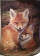 TWO FOXES BLANKET 50 X 60 NEW - Royal Plush Raschel
