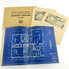 Vintage Architectural Blueprints Mid Century House Residential Drawings Plans #4