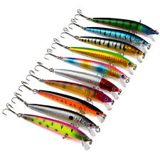 New Lot 5pcs Kinds of Fishing Lures Crankbaits Hooks Minnow Baits Tackle Crank