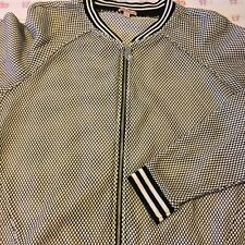 NEW Juicy Couture Black and White Contrast Knit Baseball Jacket - L