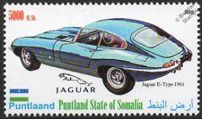 1961 JAGUAR E-Type Sports Car Automobile Stamp