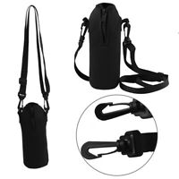 1L Anti Scalding Insulated Water Bottle Zipper Cover Pouch Shoulder Bag w/straps