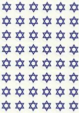 Lot of 480 Little Round Blue on White Star of David Stickers Israel Jewish