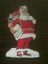 Vintage Paper Santa Claus Christmas Ornament The Dime Savings Bank of Brooklyn