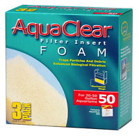 Aqua Clear Aquaclear 50-Gallon Foam Inserts 3-Pack