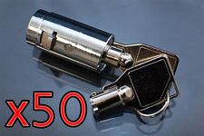 50 Universal Tubular Soda Snack Vending Machine Cylinder Plug Lock NEW
