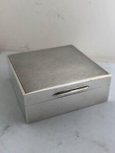George VI Asprey silver hallmarked box London 1938 cedar 9cm wide 6oz all in.